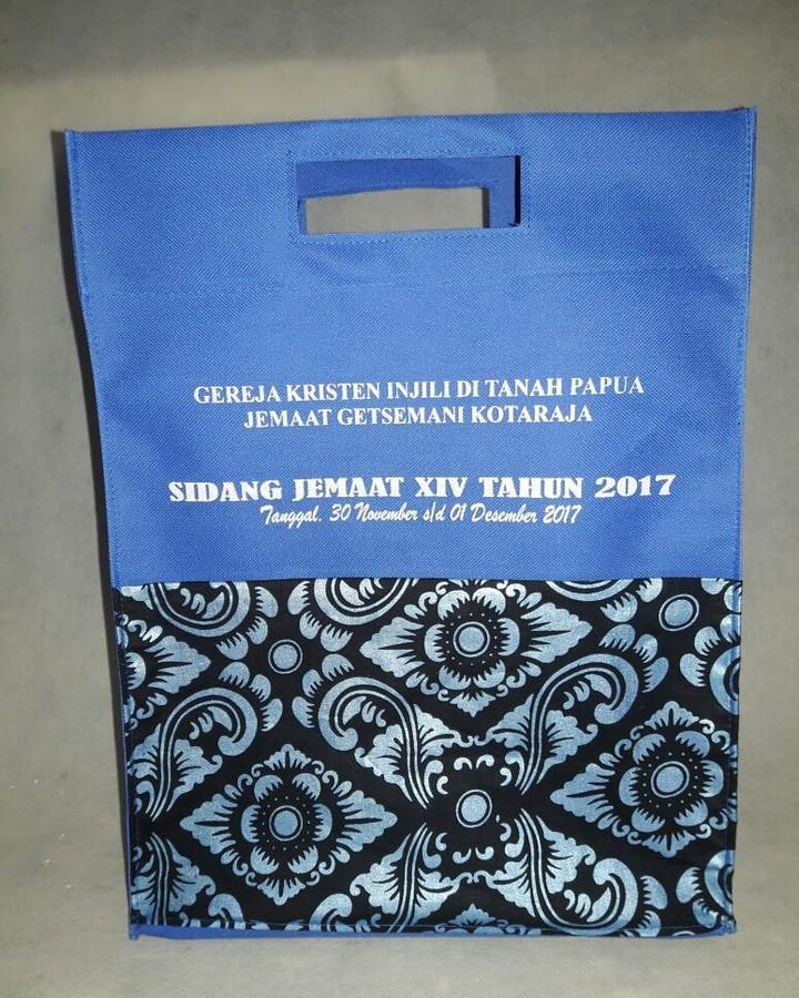 tas acara kegiatan di gereja souvenir bahan spunbond, tas souvenir, Tas Sidang Jemaat