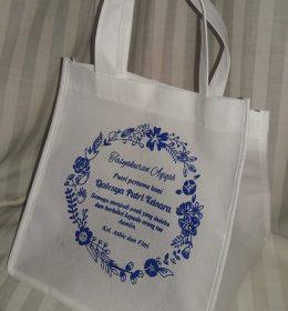 tas berkat spunbon syukuran lahiran anak pertama, tas syukuran