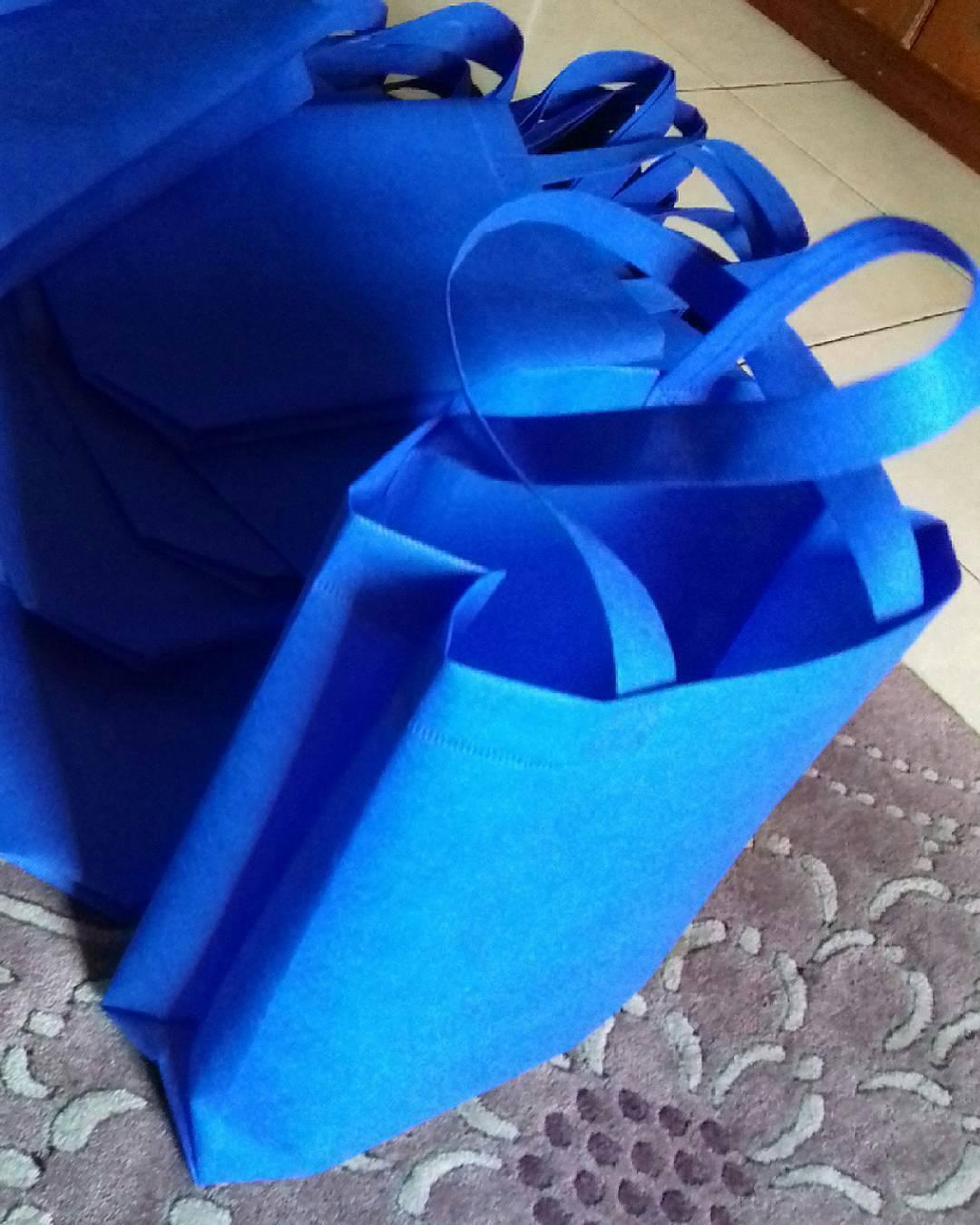 tas furing, tas berkat wadah souvenir, tas furing murah, tas furing biru