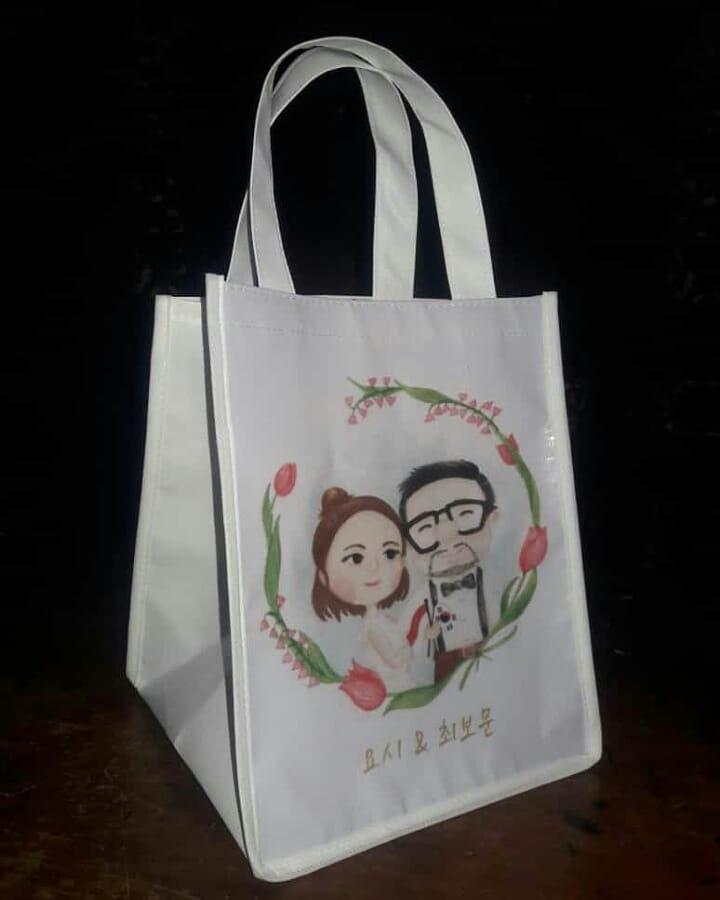 tas souvenir pernikahan bahan spunbond