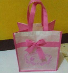 tas spunbond pink putih, tas hajatan