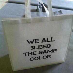 tas spunbond putih sablon satu warna