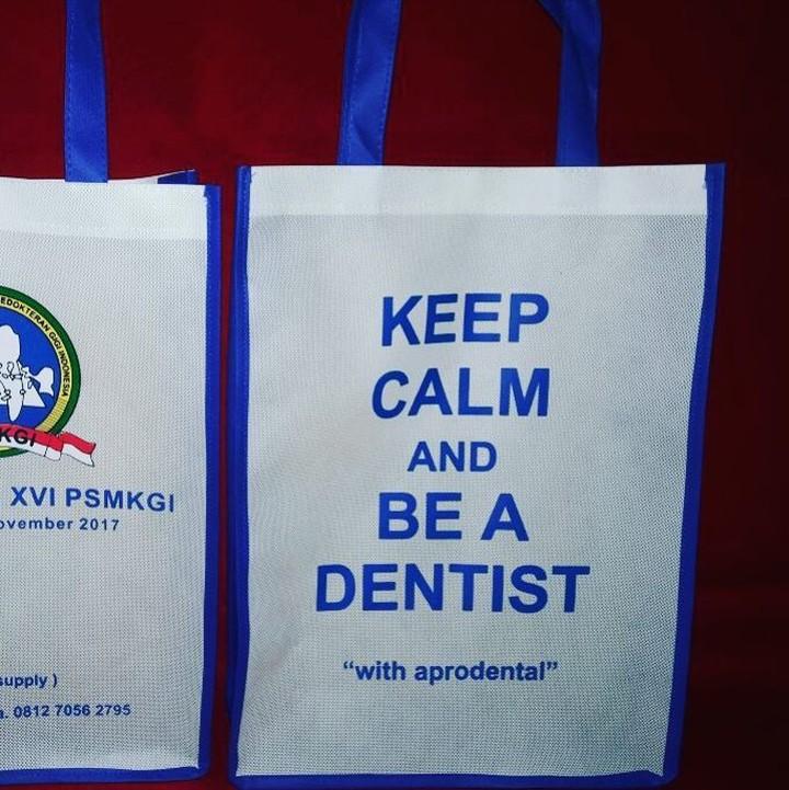 tas spunbond tas berkat acara dentist, tas spunbond