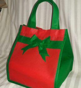 tas spunbond tas berkat merah hijau