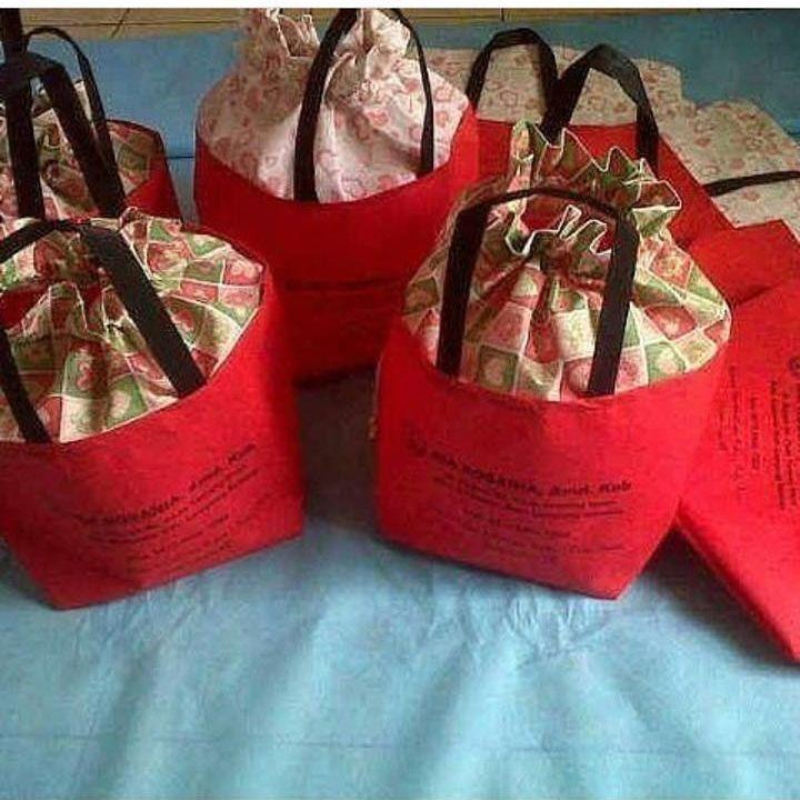 tas spunbond tas berkat merah, tas hajatan