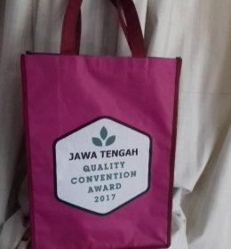 tas promosi, tas spunbond tas berkat pink jateng award, konveksi tas promosi