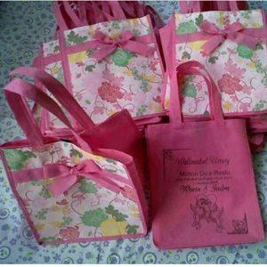tas spunbond tas berkat pink motif