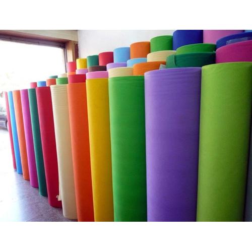 kain rol spunbond warna warni di toko bahan kain
