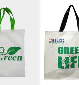 tas spunbond tas ramah lingkungan dengan sablon tulisan go green
