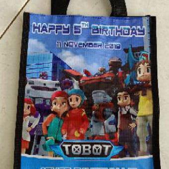 Goody Bag Ulang Tahun GU521, tas spunbond ulang tahun, goodie bag ultah gu521, tas spunbond ulang tahun anak