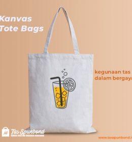 Kanvas Tote Bags - kegunaan tas dalam bergaya tasspunbond.id