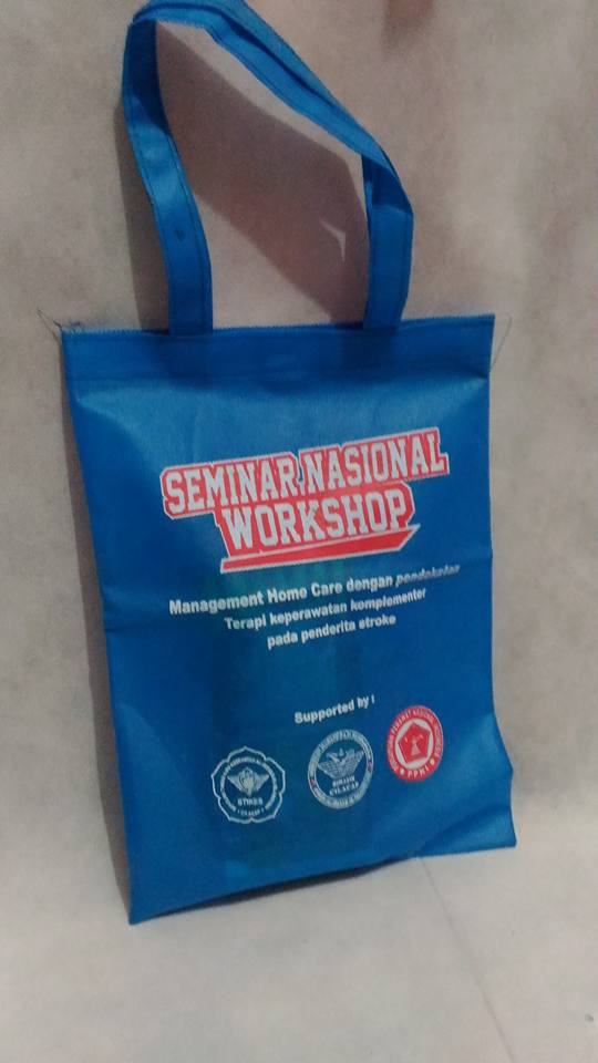 tas seminar kit workshop, tas seminar kit bahan spunbond