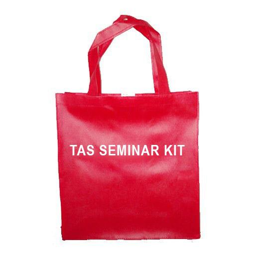 tas seminar kit merah, tas spunbond, tas spunbond polos, tas promosi, tas goodie bag, tas pelatihan, tas diklat, tas workshop