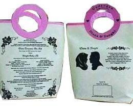 tas undangan pernikahan, tas souvenir pernikahan putih pink
